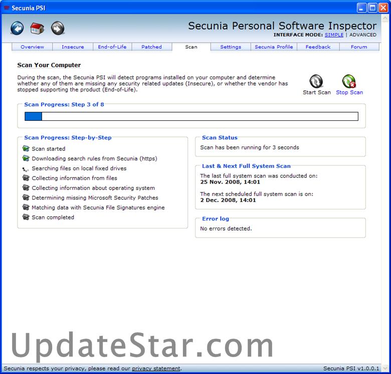 Secunia PSI 3.0.0.11005