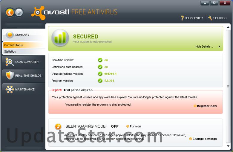 avast! Free Antivirus 18.5.2342
