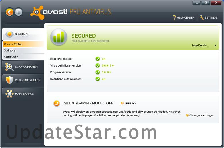avast! Pro Antivirus 18.11.20038