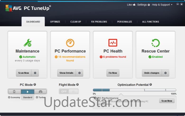 AVG PC Tuneup 16.77.3.23060