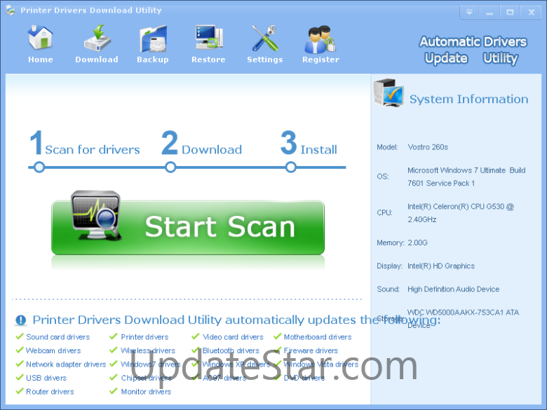 Printer Drivers Download Utility