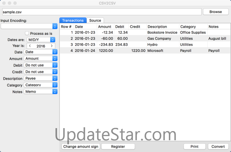 CSV2CSV for Mac 4.0.2