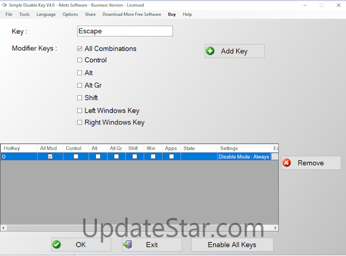 Simple Disable Key 9.3