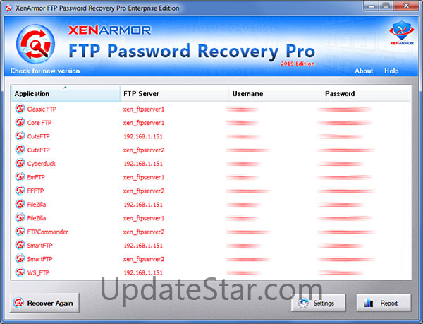 FTP Password Recovery Pro 2019 1.0