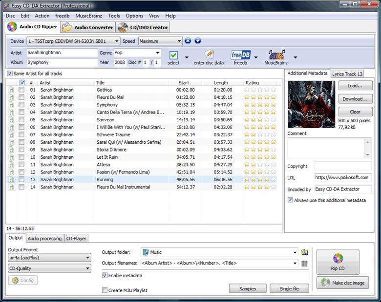 Easy CD-DA Extractor 2010.6